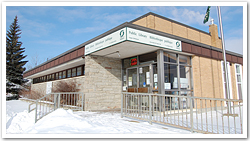 colour photo of Copper Cliff Library