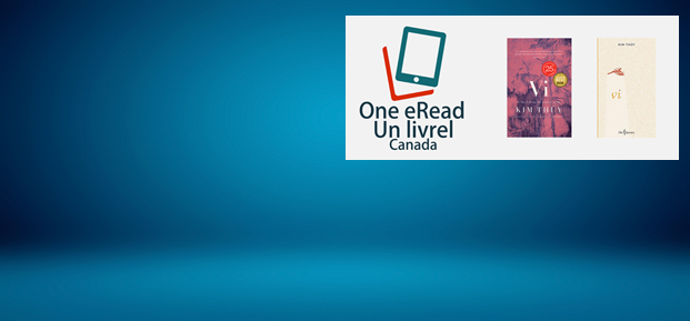 Blue background with eRead Canada logo and book covers