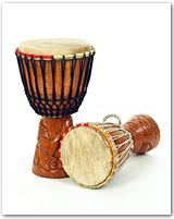 Two hand drums
