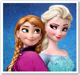 Princess Anna and Queen Elsa from Disney's Frozen