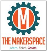 Logo : The Makerspace. Learn. Create. Share