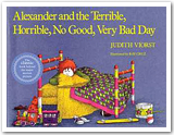 "Book jacket of ""Alexander and the Terrible, Horrible, No Good..."""
