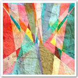 Bright abstract art with geometric elements.